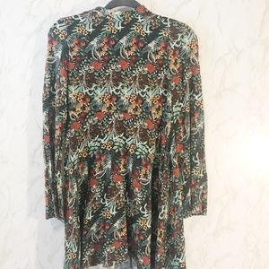 Zara Colorful Print Mini Bell Sleeve Dress Size 2
